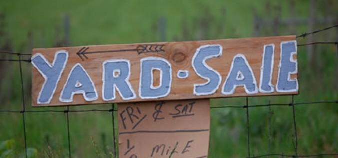 Organize Your Spring Garage Sale