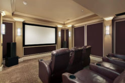 Home Theater Room with Plush Seating