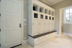 Tall Cabinet Shelving for Mud Room
