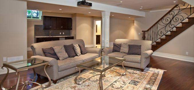 Down-in-the-Basement Entertainment Room