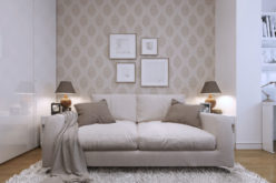 Pattern Wallpaper for a Modern Styled Living Room
