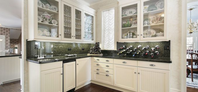 White Cabinet Pantry Attached to the Kitchen