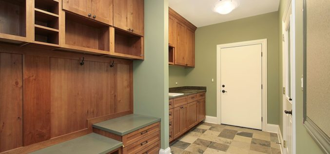 Mud Room With Sitting Area and Clean Up