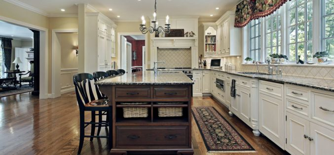 Nicely Designed Kitchen For a Long Narrow Look