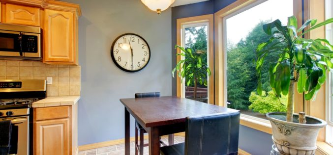 Breakfast Table Nook When Dining Needs to Be Fast
