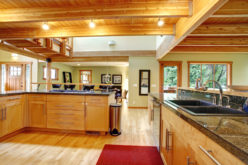 A Country Log-Cabin Styled Kitchen