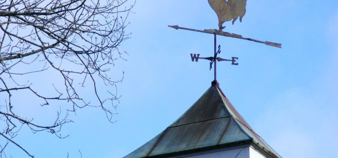 Rooftop Weathervane for Added Exterior Decor