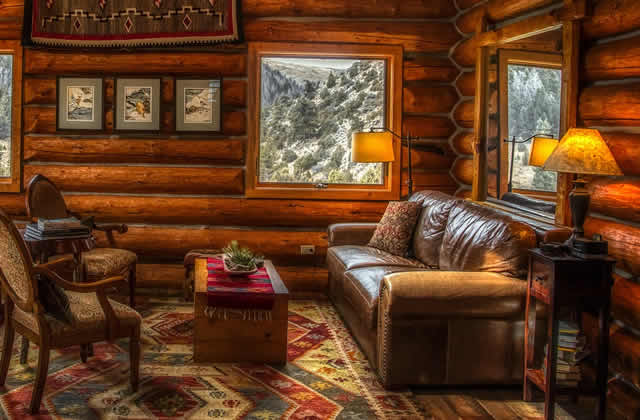 Rustic Look A Log Cabin Living Room, Cabin Living Room Furniture