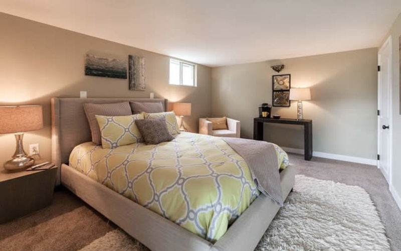 Simple Basement Bedrooms for the Extra Kids and Space