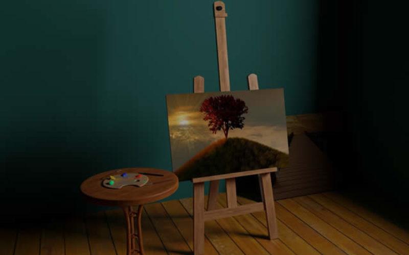 Attic Conversion Idea: Artist Studio Room