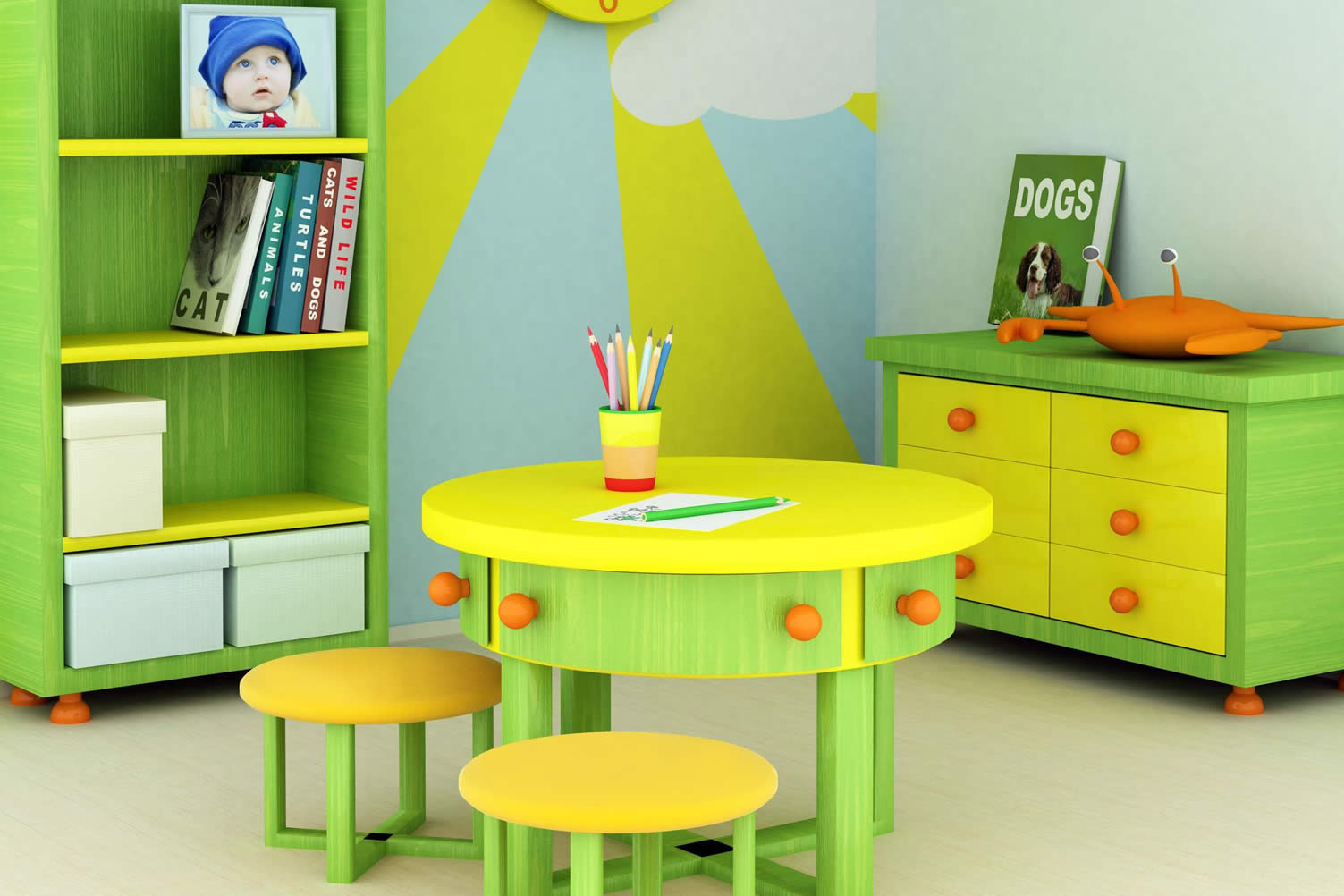 create a fun child playroom in small spaces