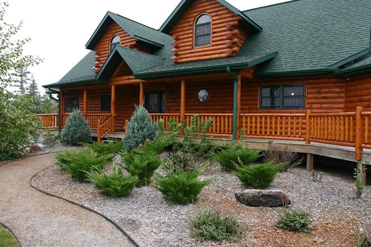 log cabin and log home interior