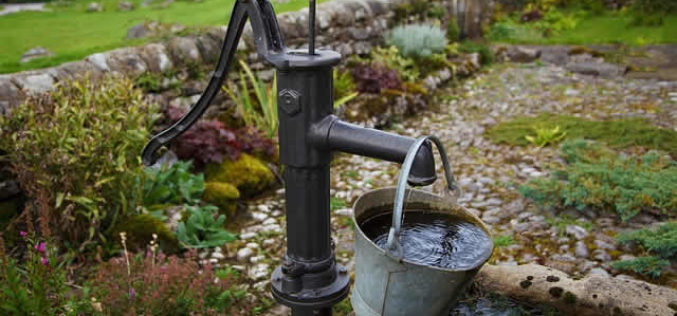 Adding a Garden Water Well a Vintage Landscape Look