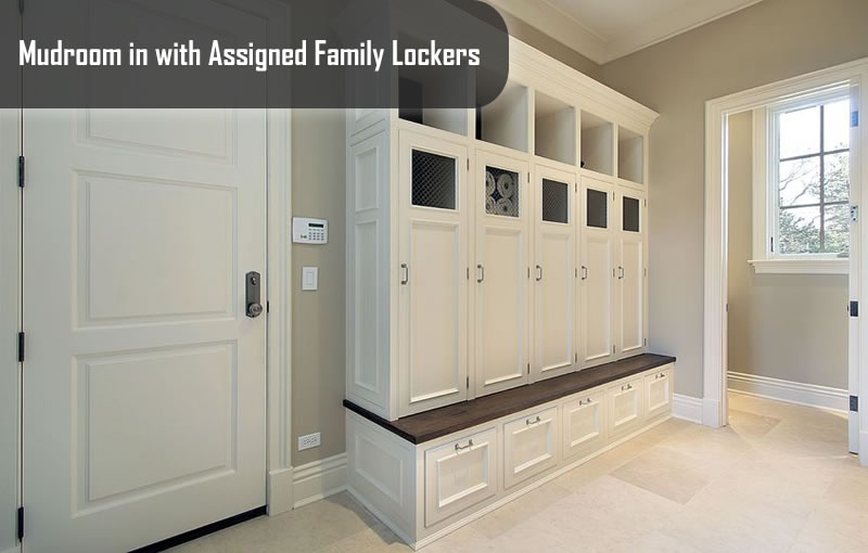 Mudroom with Assigned Family Lockers